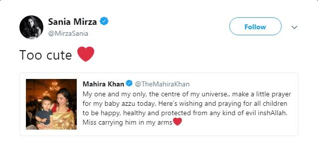 Sania Mirza and Mahira Khan Exchange Tweets