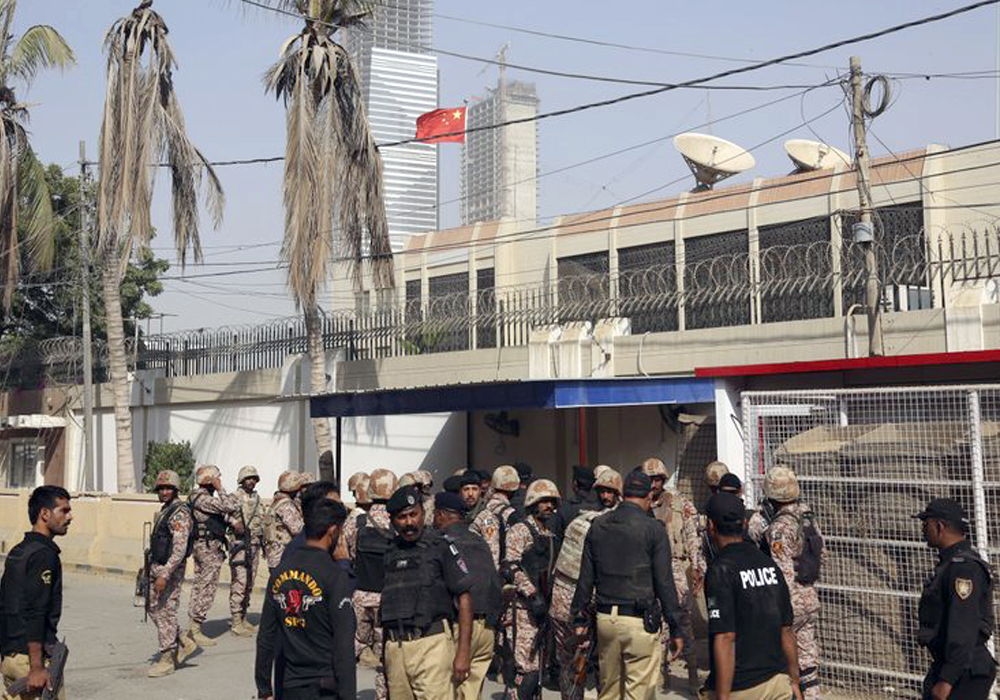 India Condemns Chinese Consulate Attack in Karachi