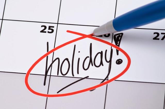 2019 holiday list