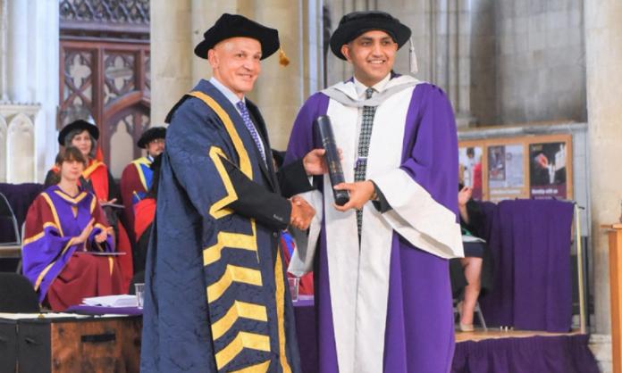 Chaudhry Faisal Mushtaq at Hertfordshire University